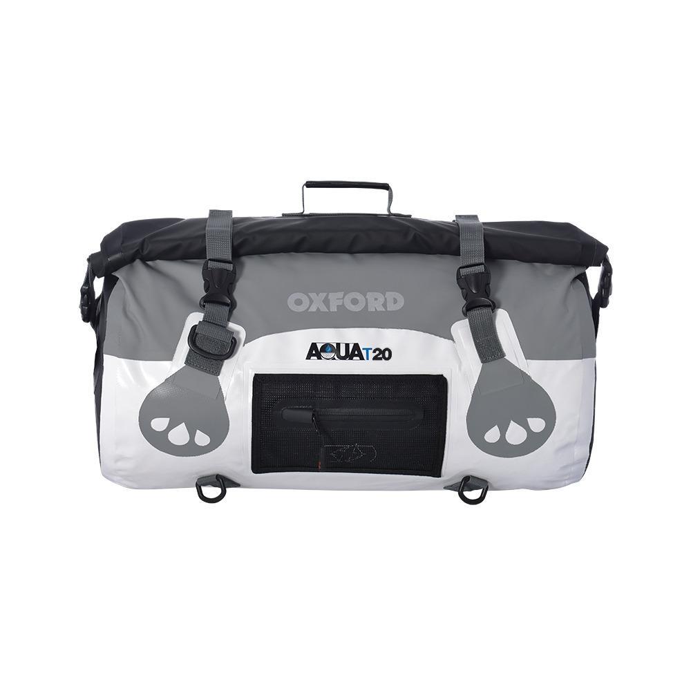 Oxford Aqua T-20 Roll Bag - White/Grey