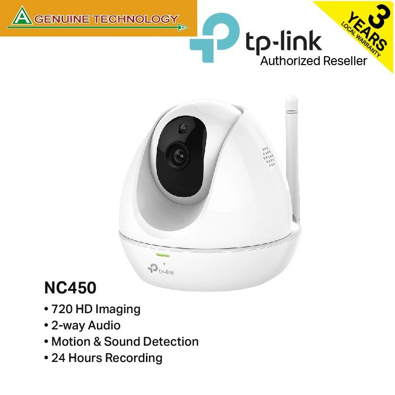 Tp-Link Nc450 Hd Pan/tilt Wi-Fi Camera With Night Vision(white No Storage) By A Genuine Technology.