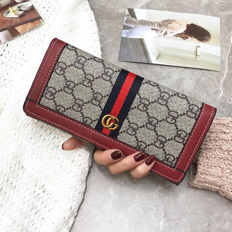 b75893ed524b Long Wallet Female 2018 New Style Europe And America Fashion Clasp Wallet  Large Capacity Simple Printed