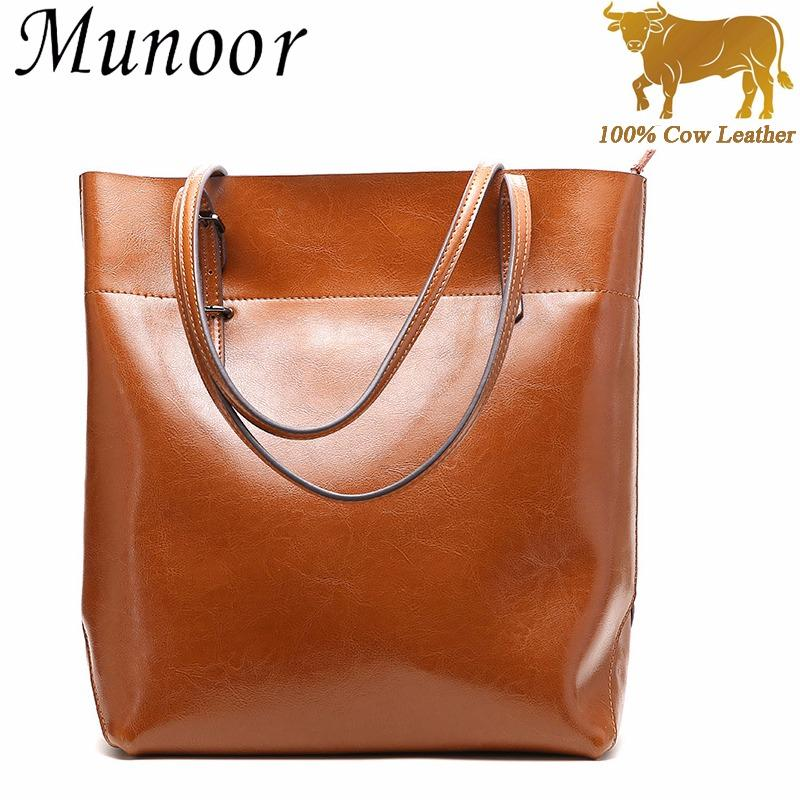 Top 10 Munoor Women Handbags 100 Genuine Cow Leather Fashionable Tote Bags Casual Shoulder Bags Purses