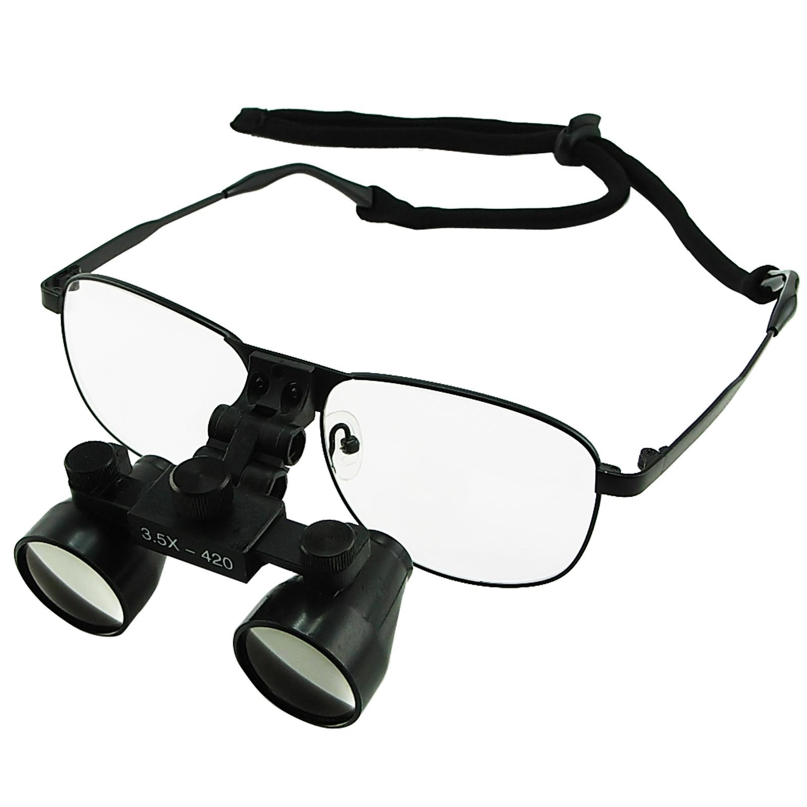 Best Rated Dl 035 Gain Express 3 5X Magnification Dental Loupes Galilean Style Titanium Frame Dental Surgical Medical Binocular 60Mm Field Of View 55Mm Depth Of Field 420Mm Working Distance Flip Up Function Flexible Optical Glass Loupe Dentistry Intl