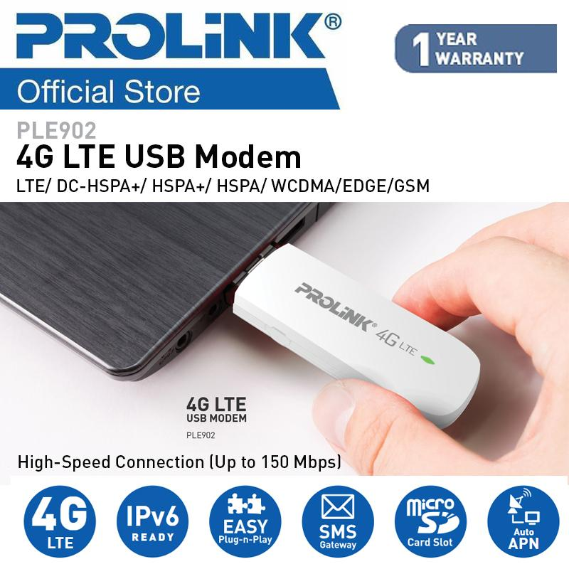 Prolink 4g Lte Usb Modem/ Usb Interface/ Sim Card/ Ple902 (with High Speed Connection) Supports Over 180 Countries By Prolink.