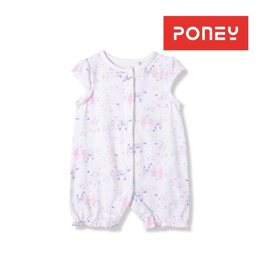Poney Babies Essentials Short Sleeve Romper White For Sale Online