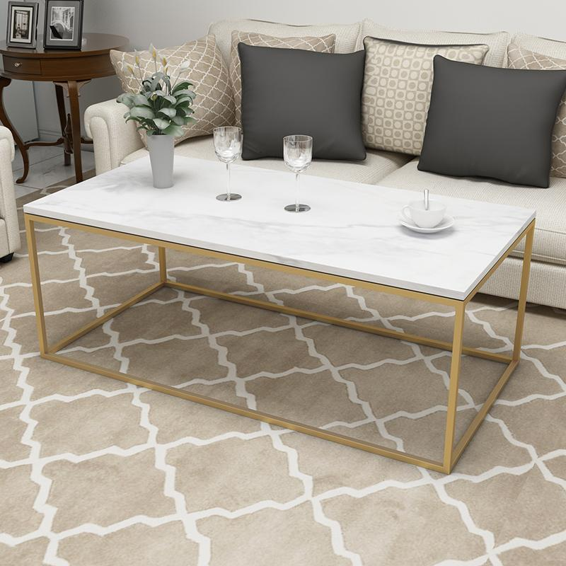 Nordic Minimalist Rectangular Marble Coffee Table