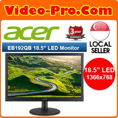 Acer EB192Q 18.5inch Black LED Monitor 3 Year Warranty!