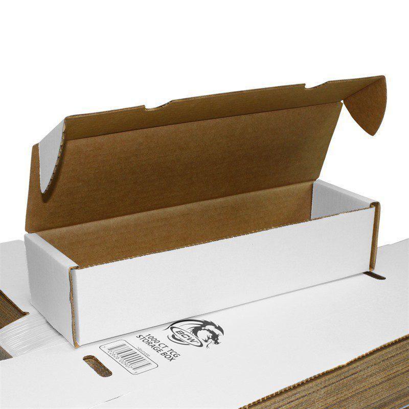 Bcw 1000ct Corrugated Cardboard Storage Box Tcg Mtg Ygo (90kg Strength) By Mgwgames.