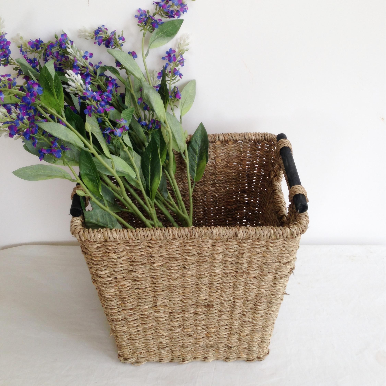Yiranart Pastoral Straw Wicker Weavings Rattan Laundry Basket Storage Basket