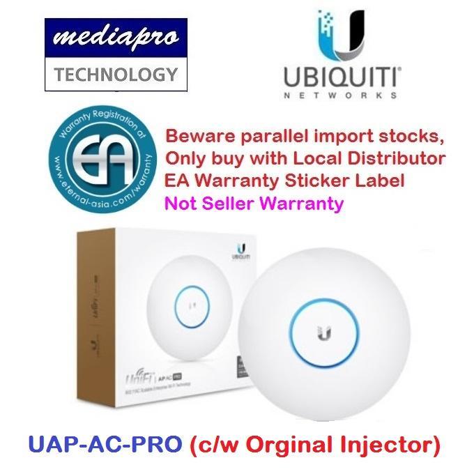 Ubiquiti UAP-AC-PRO UniFi AP AC PRO 802 11ac PRO Access Point with Orginal  PoE Injector) - Local Distributor Warranty