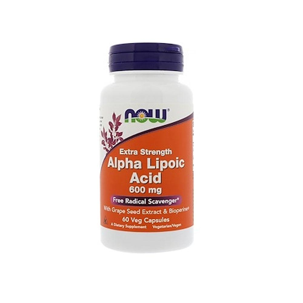 Now Foods, Alpha Lipoic Acid, Extra Strength, 600 Mg, 60 Veg Capsules By Bloom Concept.