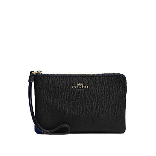Singapore New Arrival Coach Corner Zip Small Wristlet Multiple Designs Available With Gift Box