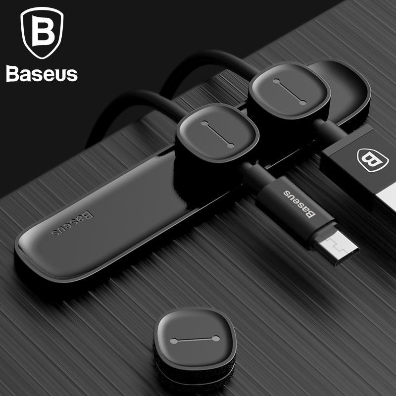 Baseus Durable Magnetic Cable Clip USB Cable Organizer Clamp Desktop Workstation