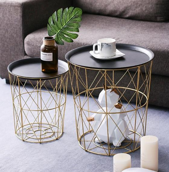 Nordic Metal Side Table Set (2-IN-1)