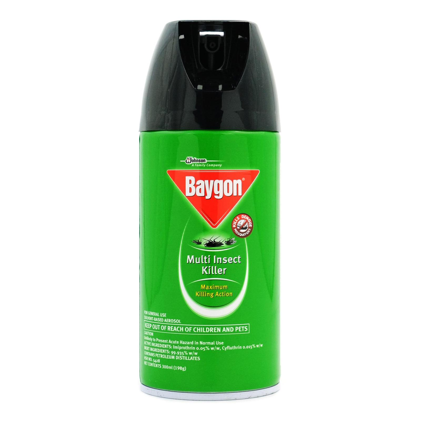 Baygon Multi Insect Killer 300ml X3 By Houseware.