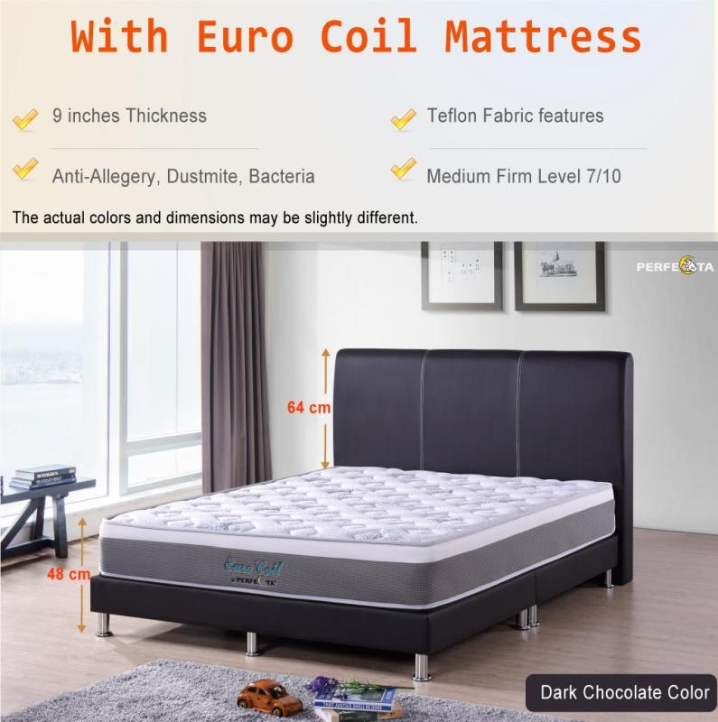 Queen size Euro Coil Mattress with  Bed Frame UN402