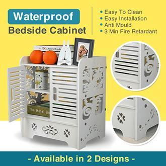 Waterproof Bedside Cabinet / Organizer / Storage / Furniture / 2 Design / Drawers