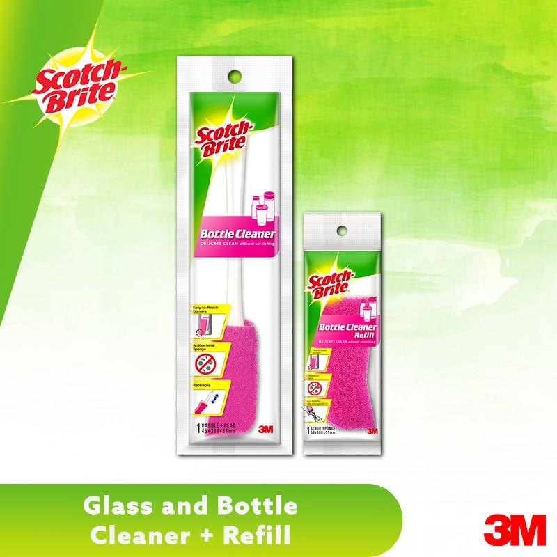 3m Scotch Brite Glass And Bottle Cleaner & Refill By 3m Official Store.