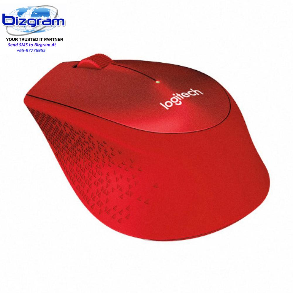 Retail Price Logitech Wireless Mouse M331 Silent Plus Red 910 004916