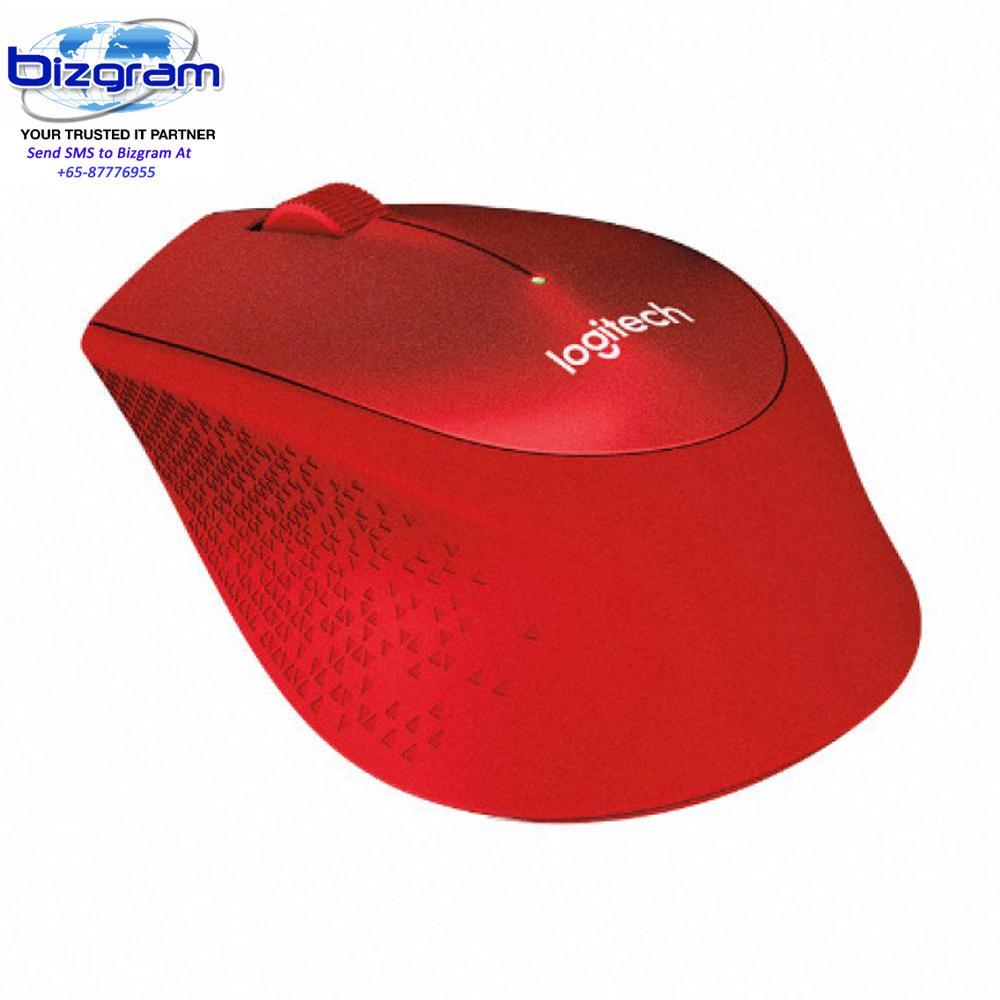 Sale Logitech Wireless Mouse M331 Silent Plus Red 910 004916 Online Singapore