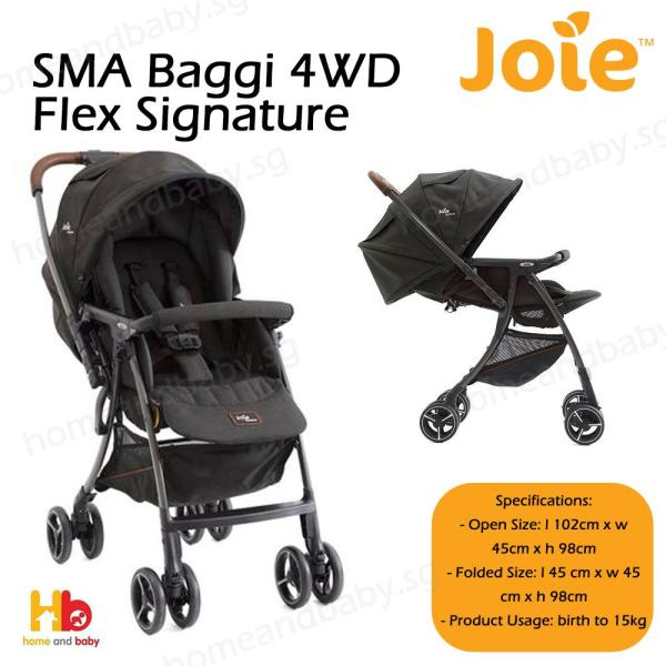 Joie SMA Baggi 4WD Flex Signature (One year warranty)(with raining cover)(ready stock) Singapore