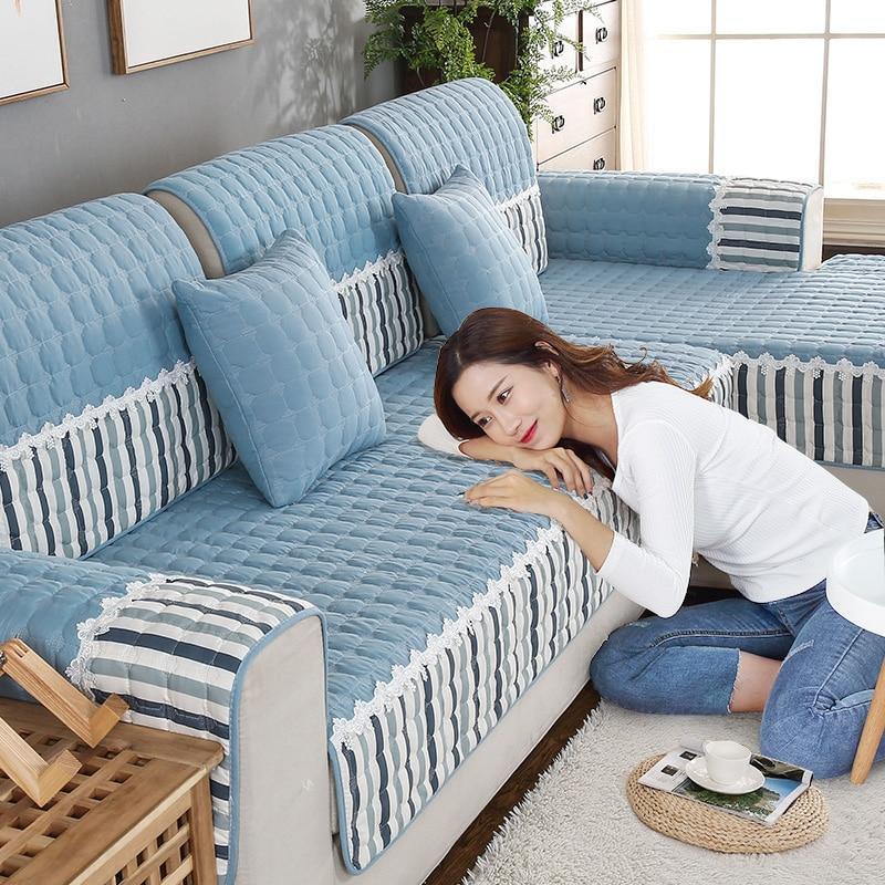 Four Seasons Available Sofa Cover Cotton  Printed Sofa Towel Universal Non-Slip Sofa Cover 1/2/3/4 Set Sofa Cushion