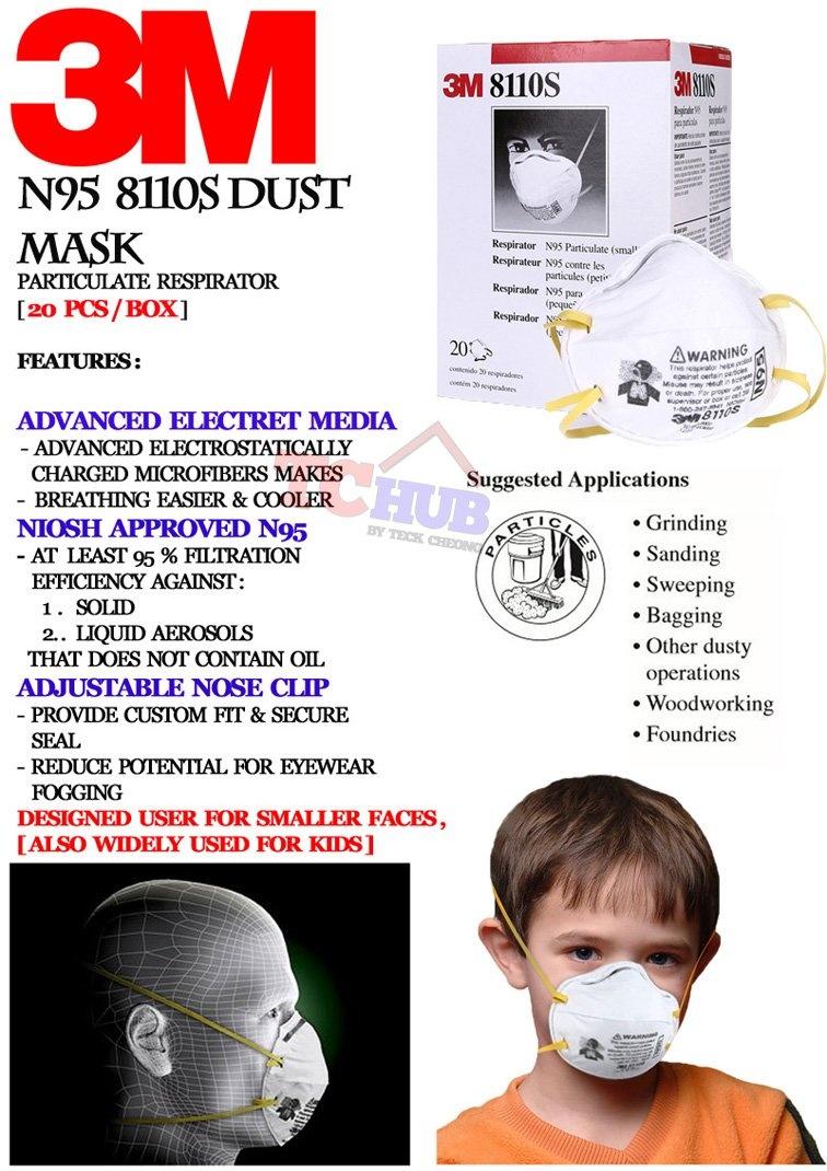 3m N95 Pieces Mask 8110s Dusk 20