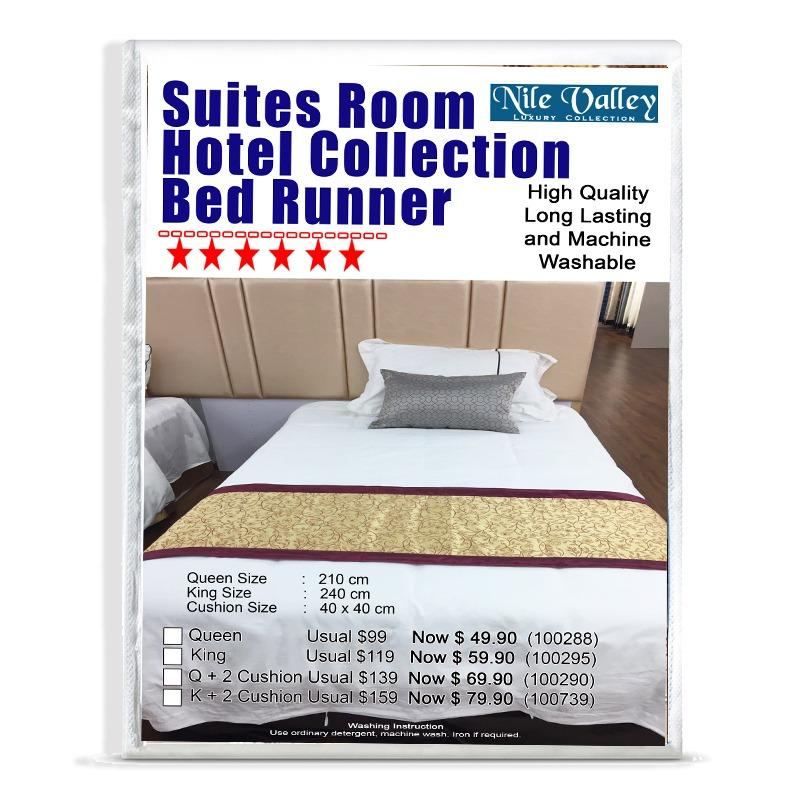 Discount Nile Valley Premium Quality Hotel Collection Bed Runner Nile Valley