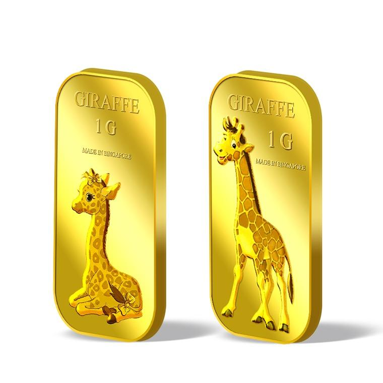 Purchase Puregold Male And Female Giraffe Gold Bar 1G Set Of 2 Online
