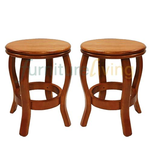 Furniture Living Solid Wood Dining Stool (Cherry) Bundle Deal