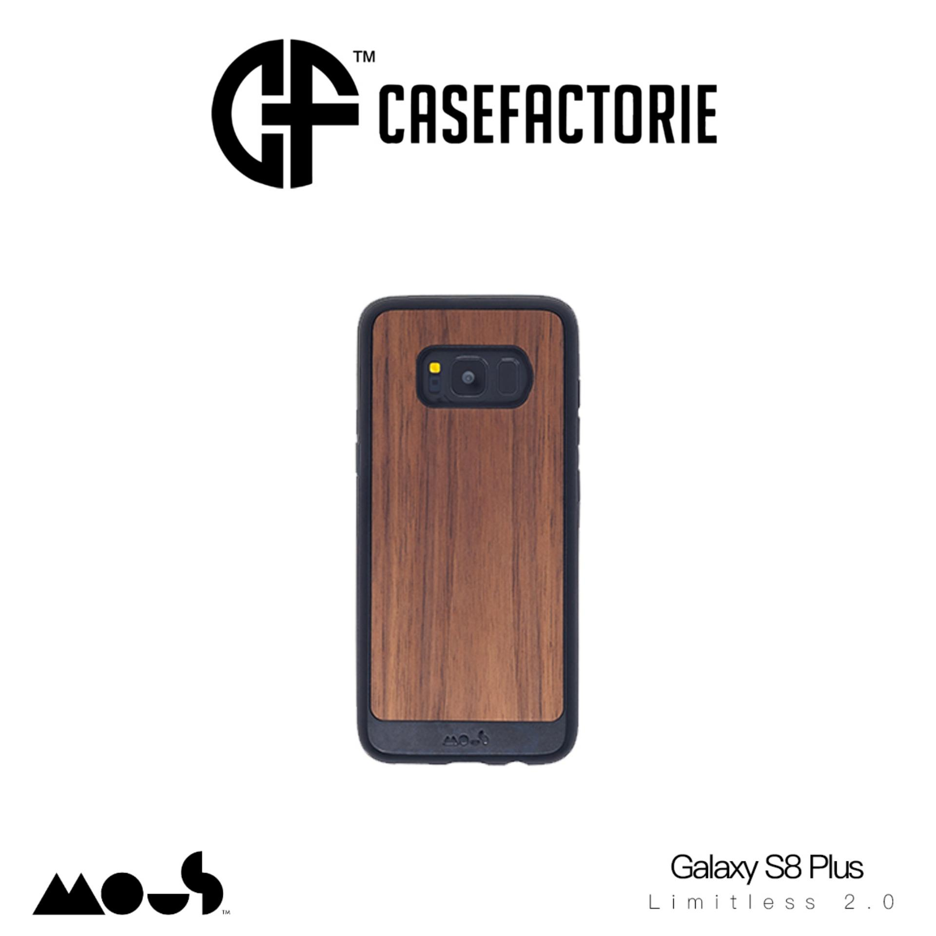 Cheaper Mous Limitless 2 Case For Samsung Galaxy S8 Plus Real Walnut