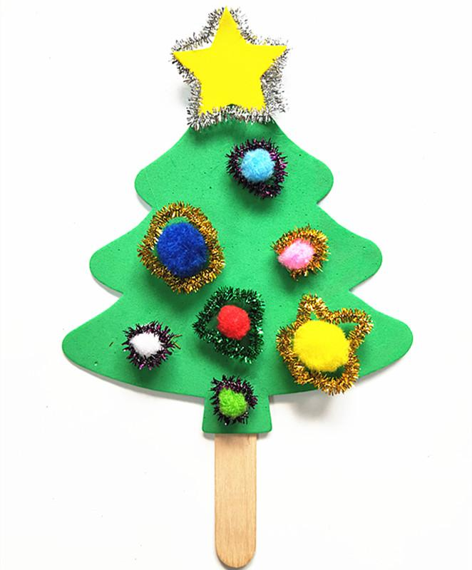 New Style Diy Kindergarten Hand-Made Pendant Hand-Held Christmas Tree Decoration Material Box Educational Art And Craft By Taobao Collection.