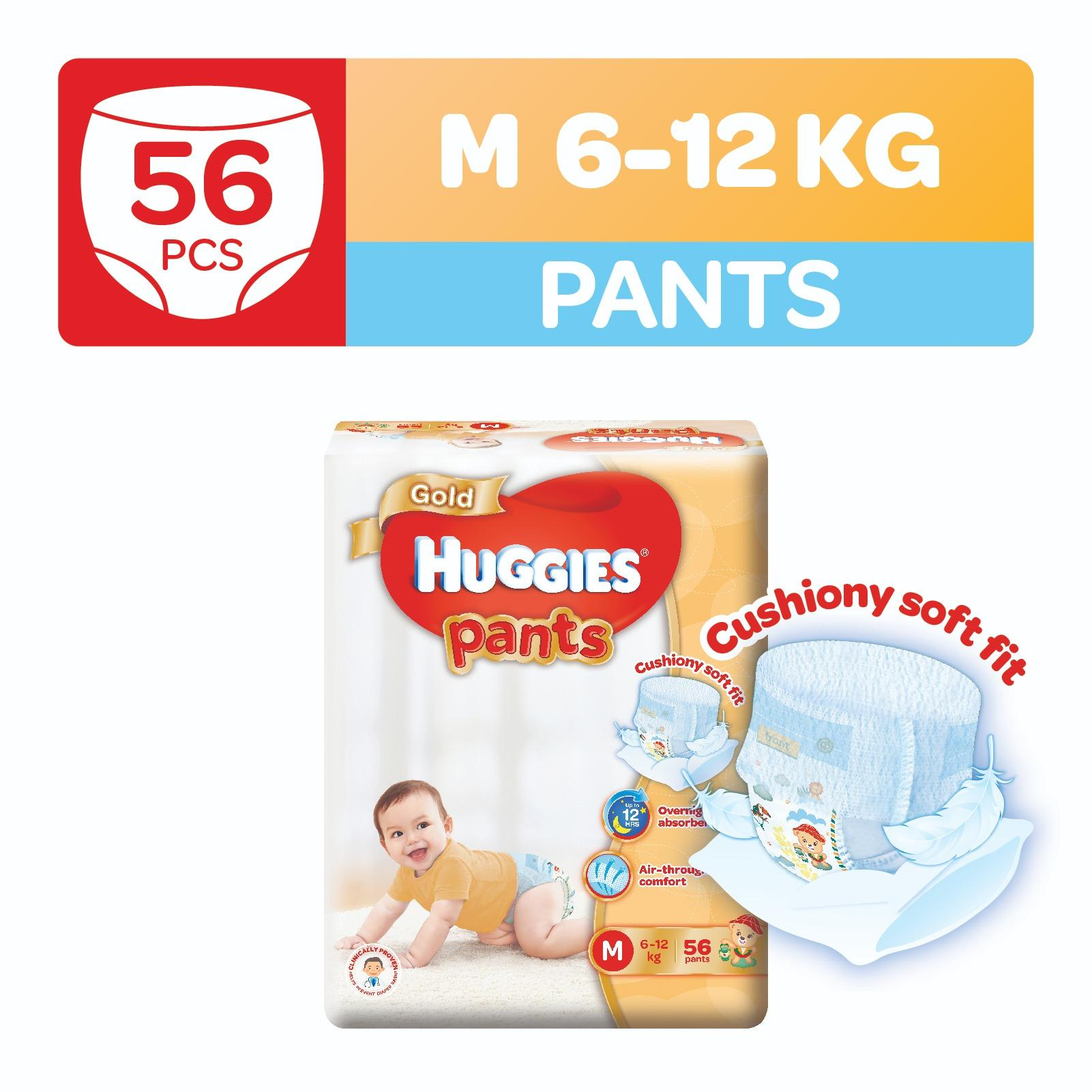 Buy Huggies Gold Pullup Pants M 56Pcs Cheap On Singapore