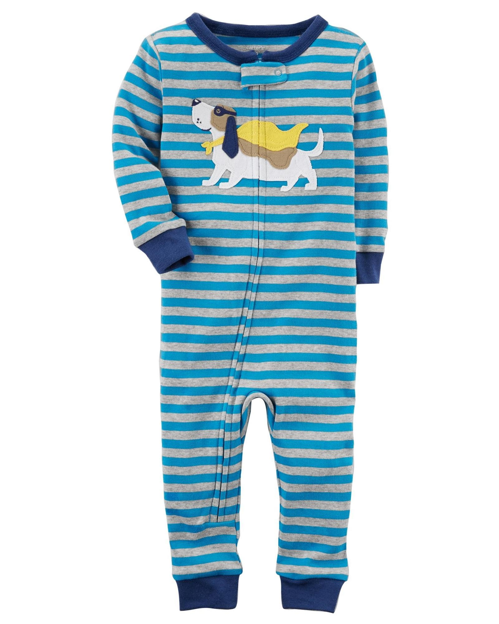 d4ae4788f Carters 1-Piece Doggy Snug Fit Cotton Footless PJs Sleep and Play Pyjama  12month 18month