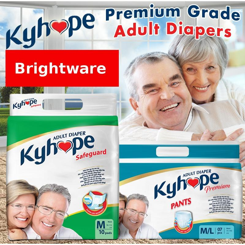 Brand New Kyhope *D*Lt Diaper Pants Heavy Use Premium M C*M L Size 1 Lot Of 56 Pc Brightware Healthcare Tested In Singapore Nursing Homes Absorbs Instantly