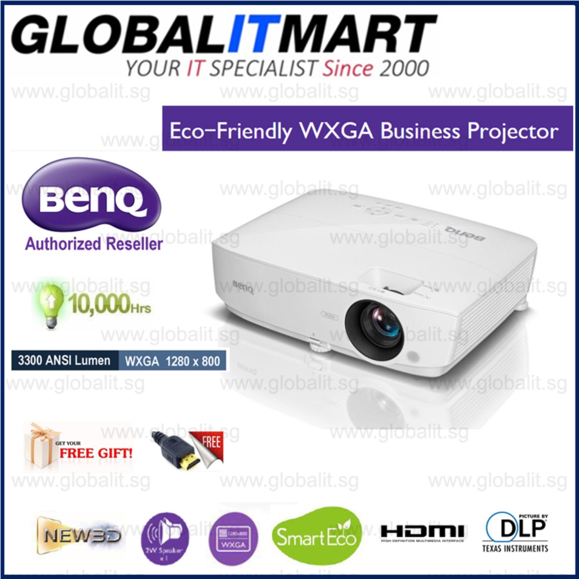 Benq Mw533 Dlp Wxga 1280X800 3300 Ansi Lumens Business Projector Sale