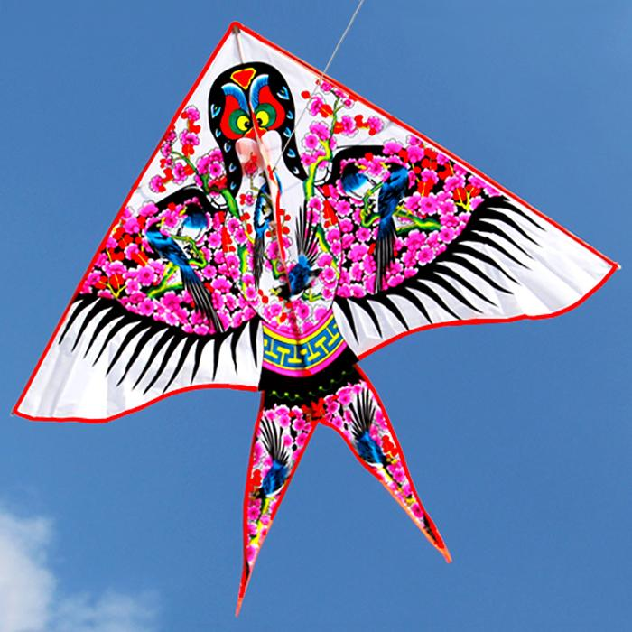 Weifang Kite Children saf instant Kite-Shaped Kite Breeze Worry about the Flying Triangle Draping Cutting/three-dimensional Cutting Chinese-style