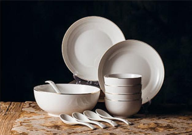 Modern Euro Dishware Gift Sets [12pcs For 4pax ; Round] By Jiji.