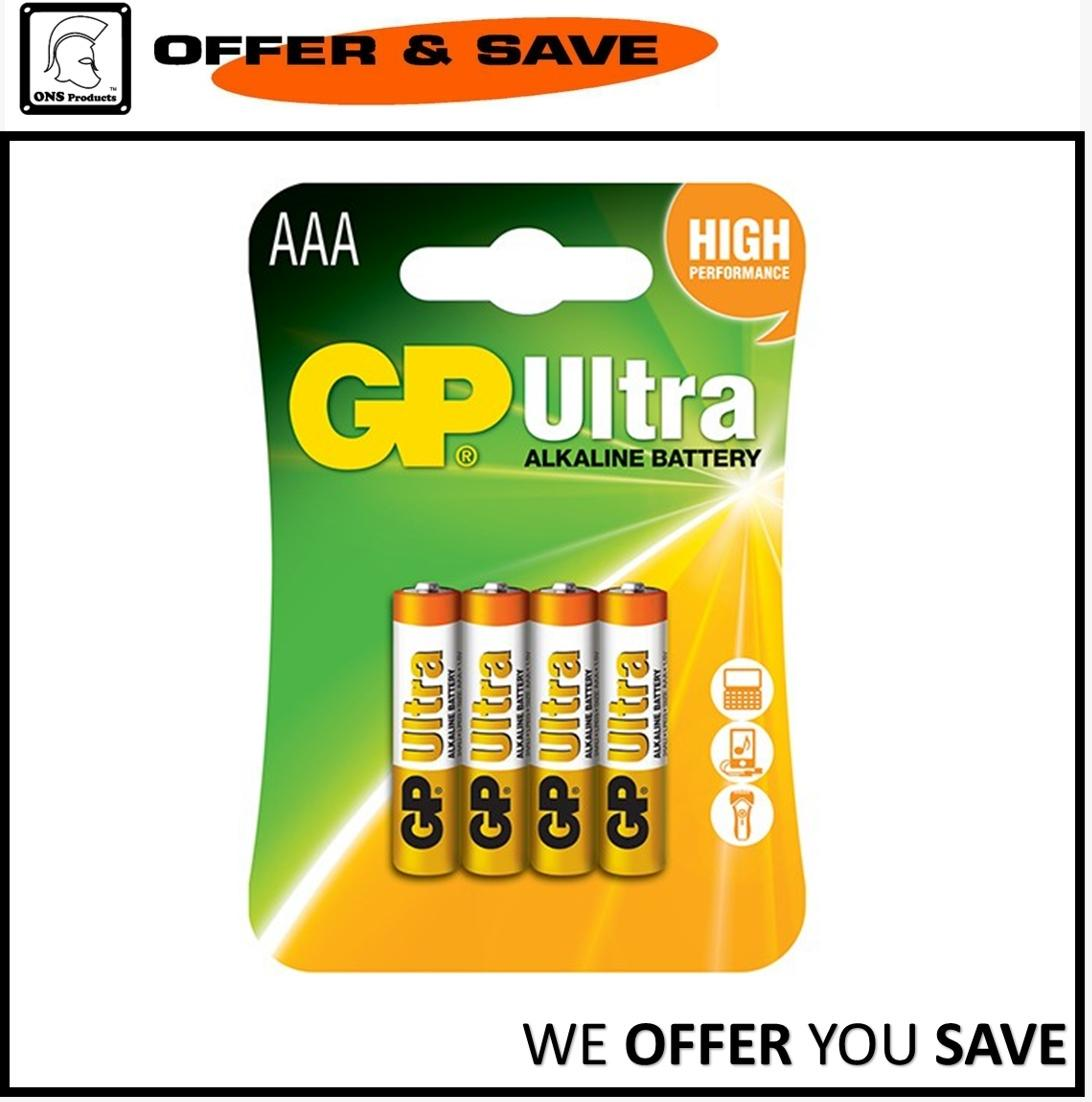 Gp Ultra Aaa Alkaline Battery By Offer & Save.
