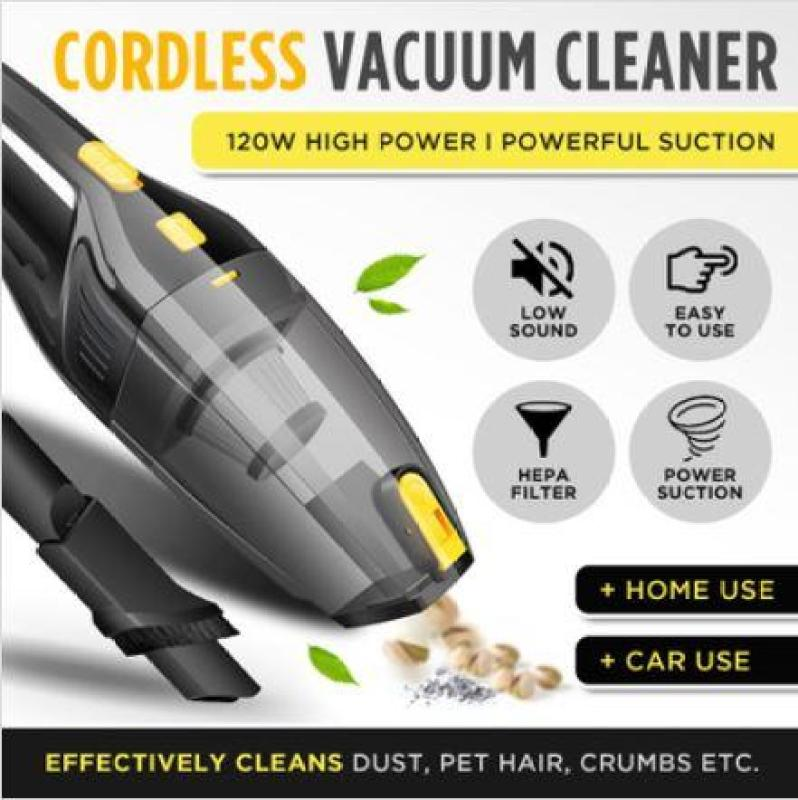 ★SG LOCAL★120W 12V High Power Low Noise Car Vacuum Cleaner Portable Handheld Vacuum Cleaner Wet and Dry Dual Use Car Vacuum Singapore