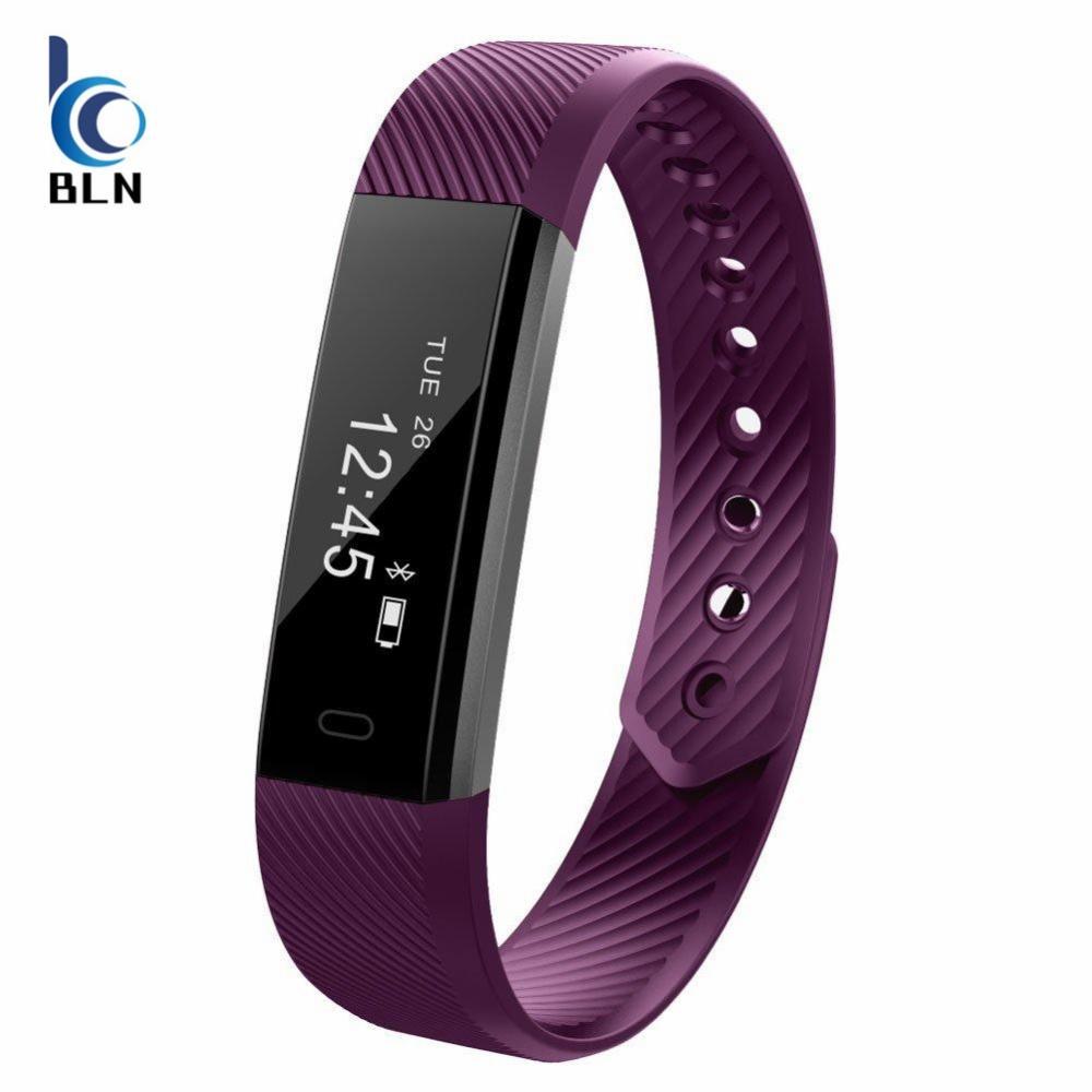 Review 【Bln Tech】Original Id115 Smart Bracelet Fitness Tracker Watch Alarm Clock Step Counter Smart Wristband Band Sport Sleep Monitor Smartband Purple Oem On Hong Kong Sar China