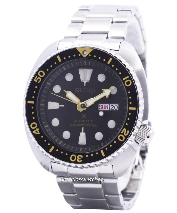 Seiko Prospex Turtle Automatic Divers 200M Men's Silver Tone Stainless Steel Strap Watch SRP775J1