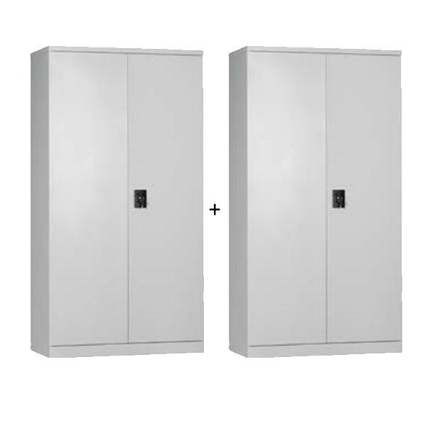 UW-02 (2 sets) Full Height Metal Swing Door Cabinet (Col. Grey)