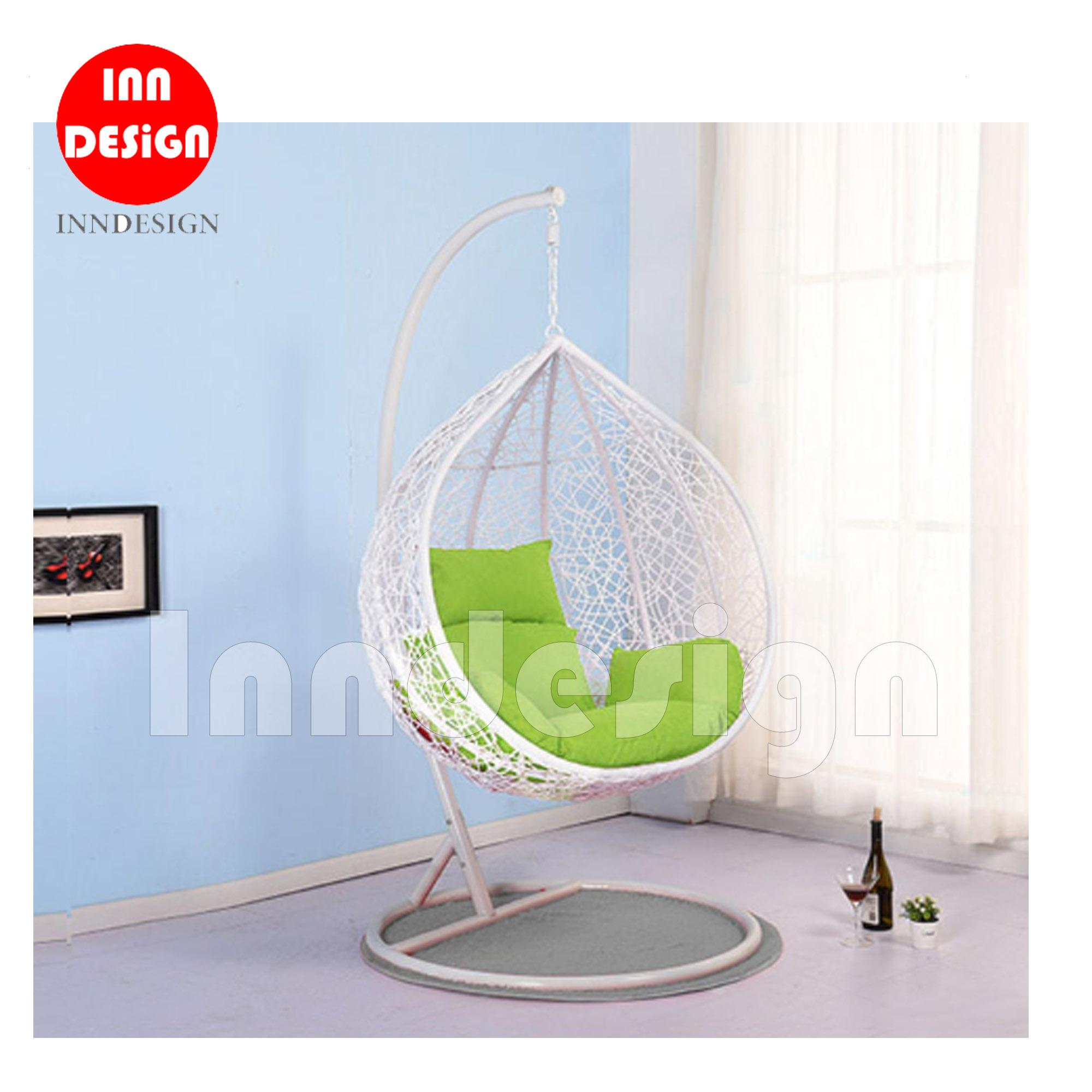 Coco Swing Chair / Lounge Chair / Relax Chair (White + Green(