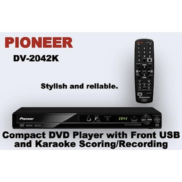 Sale Pioneer Dv 2042K Compact Dvd Player With Front Usb And Karaoke Scoring Recording