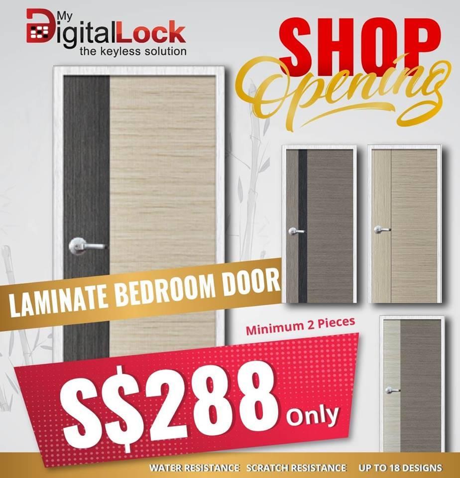 Semi-solid laminated  Bedroom Door