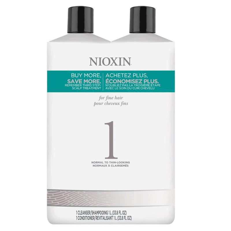 Buy Nioxin System 1 Cleanser Shampoo 1000ml + Conditioner 1000ml Singapore