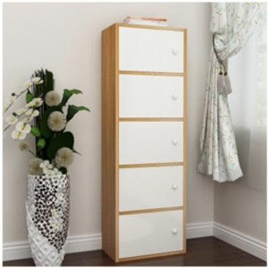 JIJI (Free Installation) 5 Tiers BEVERLY CABINET SHELVES (Wooden Storage)  (Bookcases & Shelving) - Shelves / Bookcases / Bookshelf / Storage / Organizer /Furniture /Open Cabinet/ Free 12 Months Local Warranty (SG)