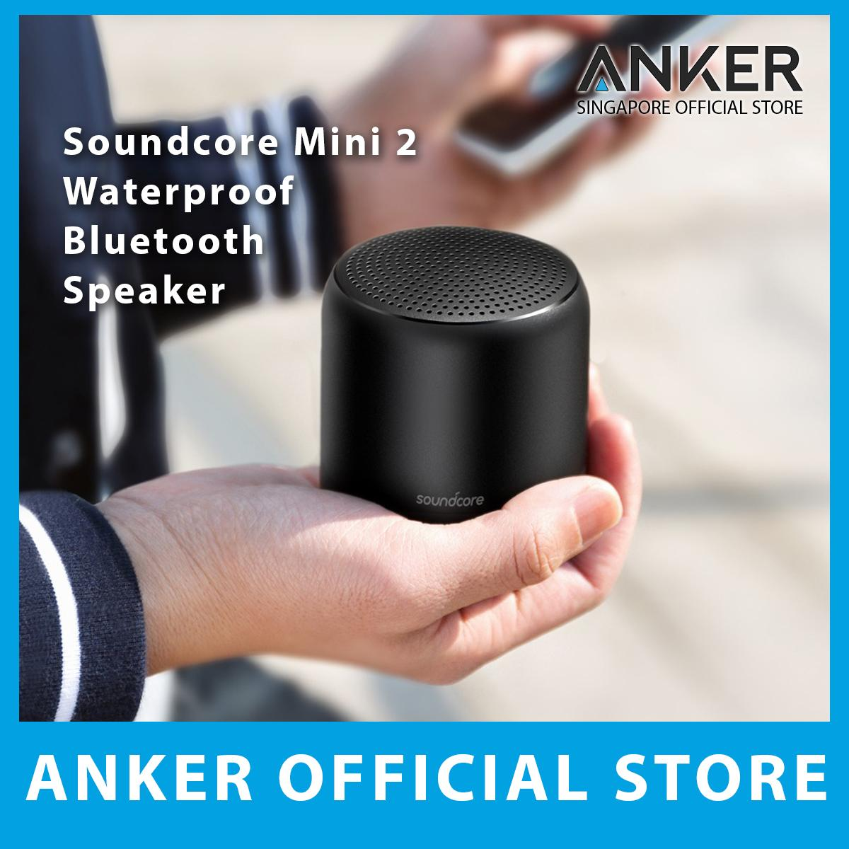 Anker Soundcore Mini 2 Waterproof Bluetooth Speaker, IPX7 Waterproof Outdoor Speaker, Powerful Sound with