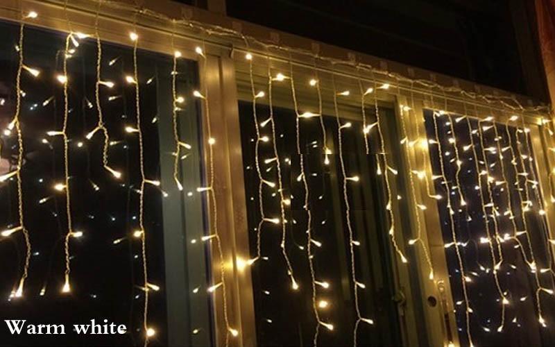 5M x 0.5m/0.6m/0.7m 96 Led Fairy Lights Curtain  Decor Outdoor