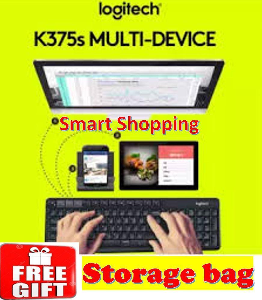 [Free Gift] Logitech K375s Multi Device Wireless Keyboard Bluetooth (Black) 100% Original with Local warranty K375 375s 920-008250 920008250 Blue tooth