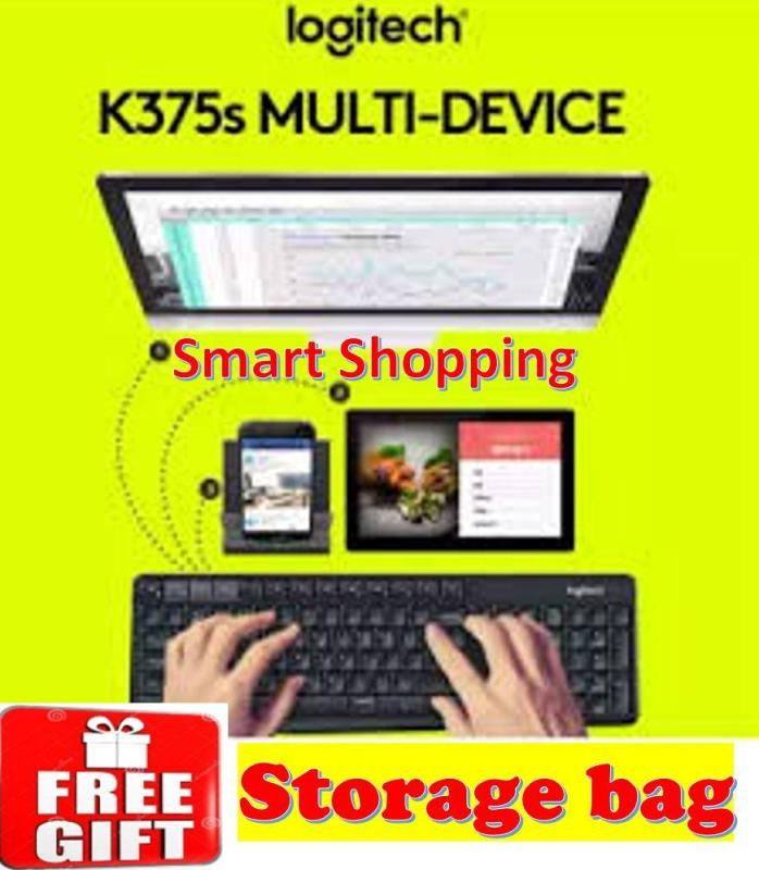 [Free Gift] Logitech K375s Multi Device Wireless Keyboard Bluetooth (Black) 100% Original with Local warranty K375 375s 920-008250 920008250 Blue tooth Singapore